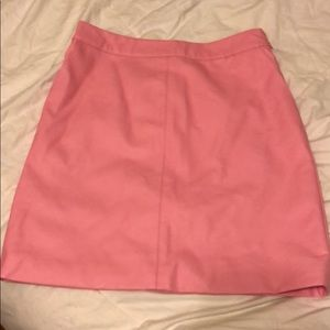 Pink Topshop Faux Leather Mini Skirt